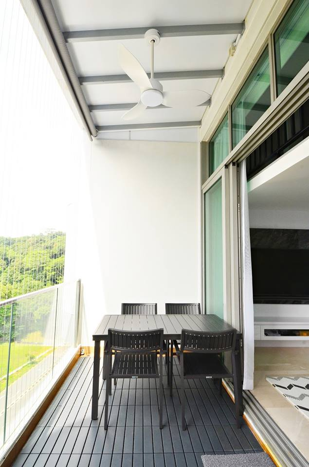 SG Mum Blogger, Ashlyn Thia's home | Products Seen: [Hiro Outdoor Dining Table – Square & Warner Outdoor Armchair]