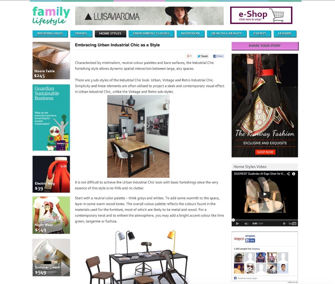 Family Lifestyle SG Blog - Embracing Urban Industrial Chic As a Style
