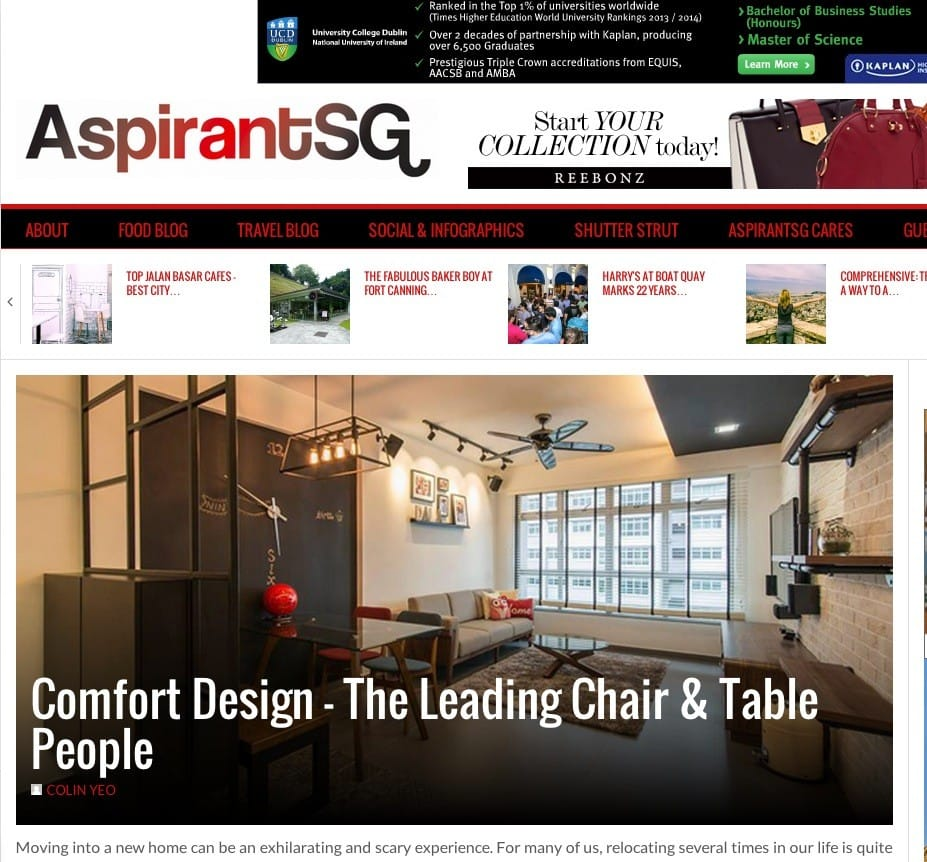 Comfort Design on AspirantSG