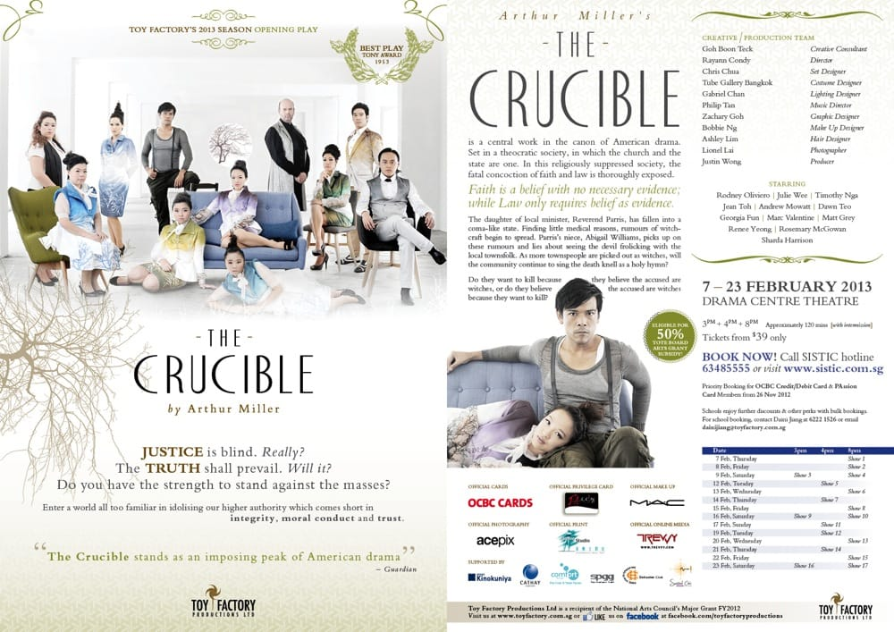 The Crucible Play by Toy Factory