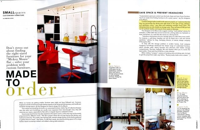 Home & Decor Feb 2012 Issue - Custom Furniture Article
