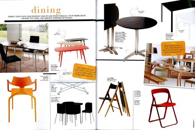 Home & Decor Feb 2012 Issue - Small Spaces ~ Dining & Sofas