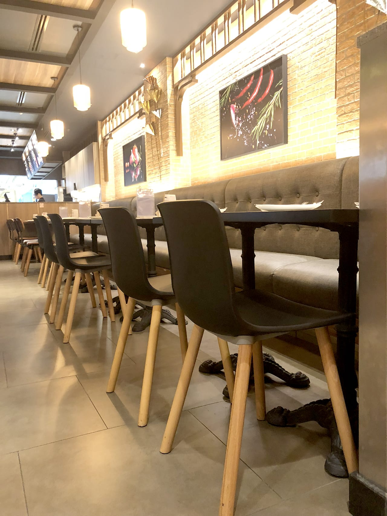 Bangkok Cafe - The Move, Mandalay, Myanmar | Product Seen: [Customised Laminate Tabletop + Paris Table Base – V2 & Plug + Round Leg Chair]