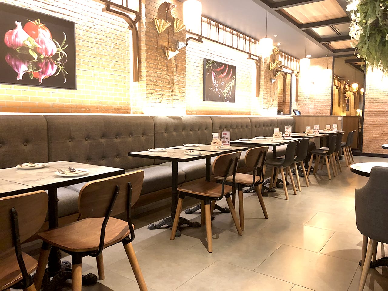Bangkok Cafe - The Move, Mandalay, Myanmar | Product Seen: [Customised Laminate Tabletop + Paris Table Base – V2, Spark Chair & Plug + Round Leg Chair]<br />