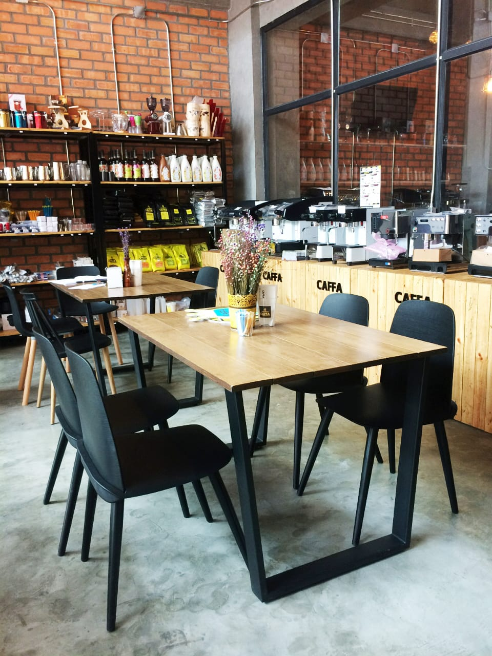 Caffa - Yangon, Myanmar| Product Seen: [Troy Chair & Duncan Dining Table – W1450]