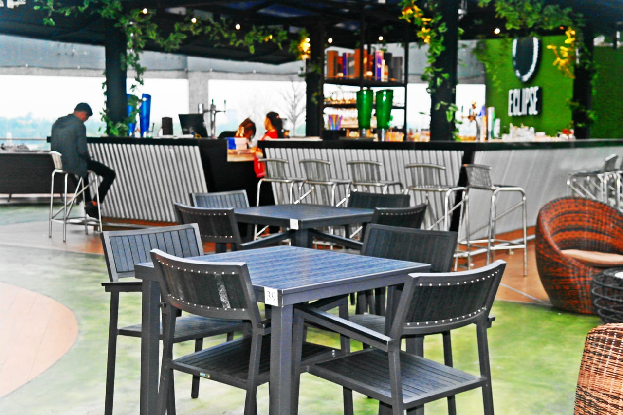 Hiro outdoor dining table square comfort design the for Outdoor furniture yangon