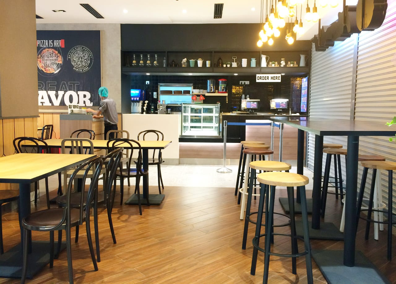 Pizza Hut - The Move Mandalay, Myanmar | Products seen: [Mondi Chair, Mento Sidechair & Toyo Barstool – Wood + Epoxy]