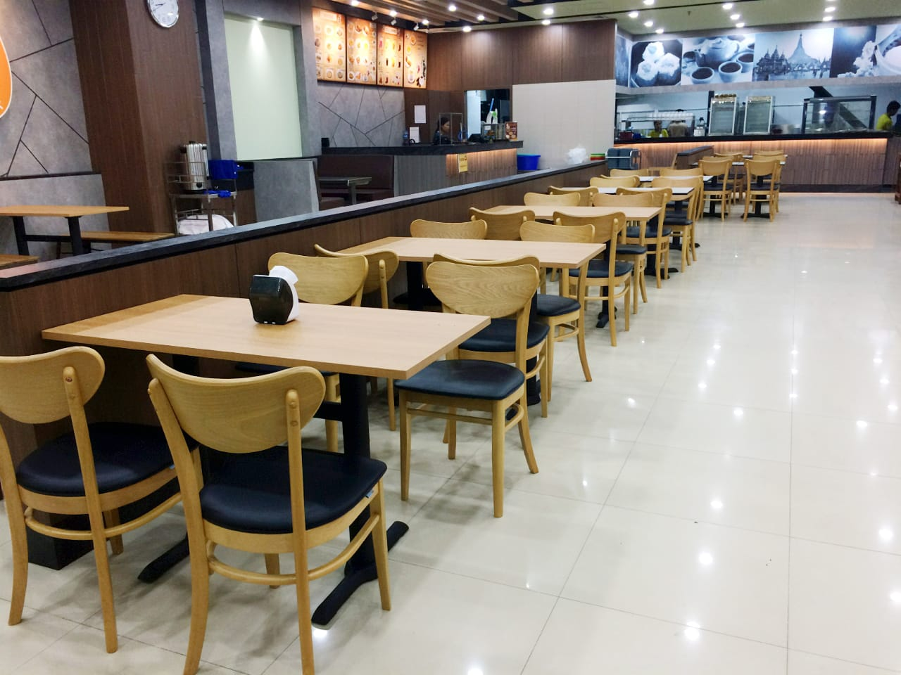 Shwe Palin Restaurant - Junction Square, Yangon, Myanmar | Products seen: [ Journey Sidechair]
