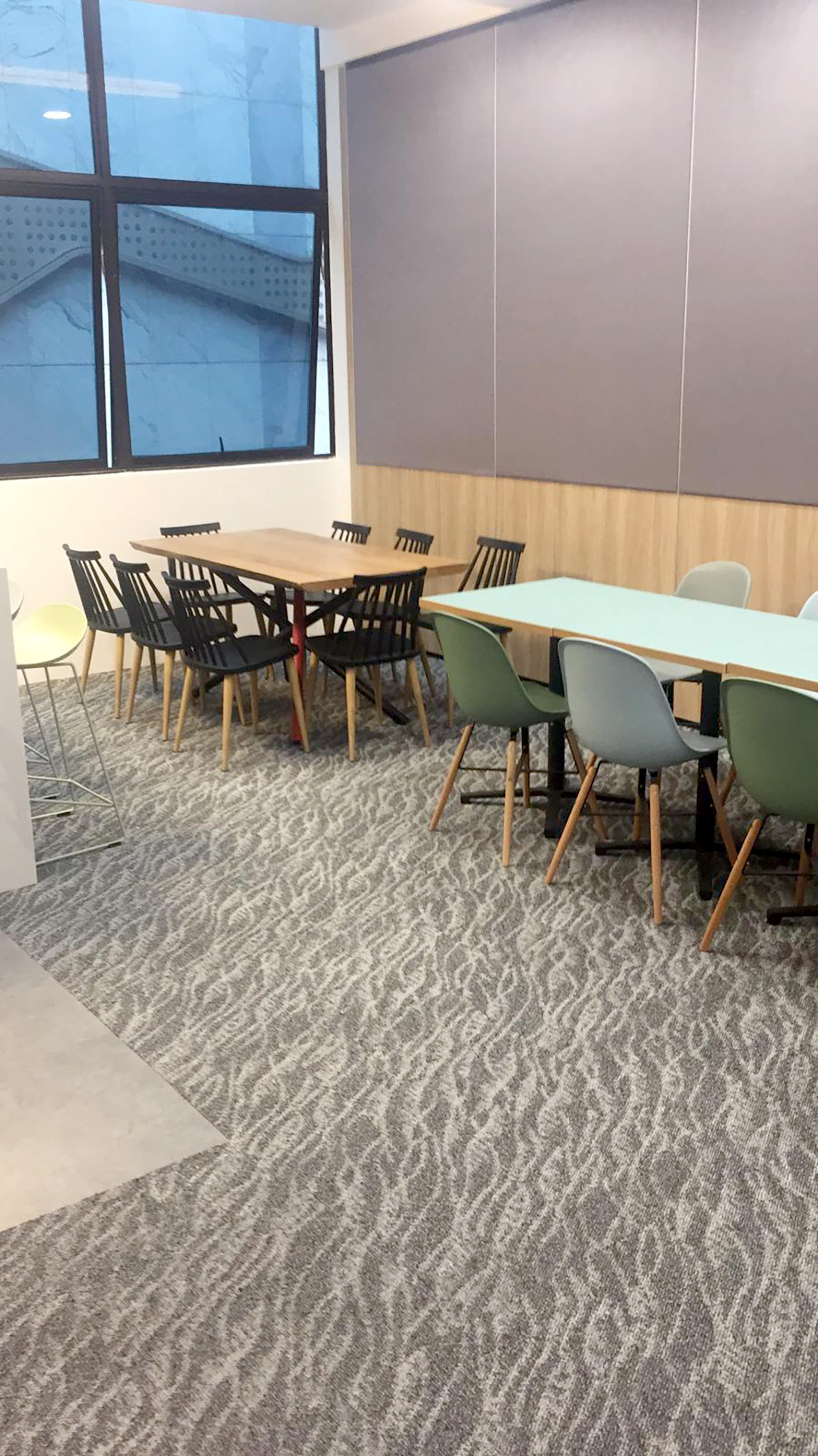 ECON Healthcare Group - Changi Road | Product Seen: [Adik – Wood Side Chair, Choyu Chair & Customised Laminate tabletop + Grit Non-foldable Table Base]