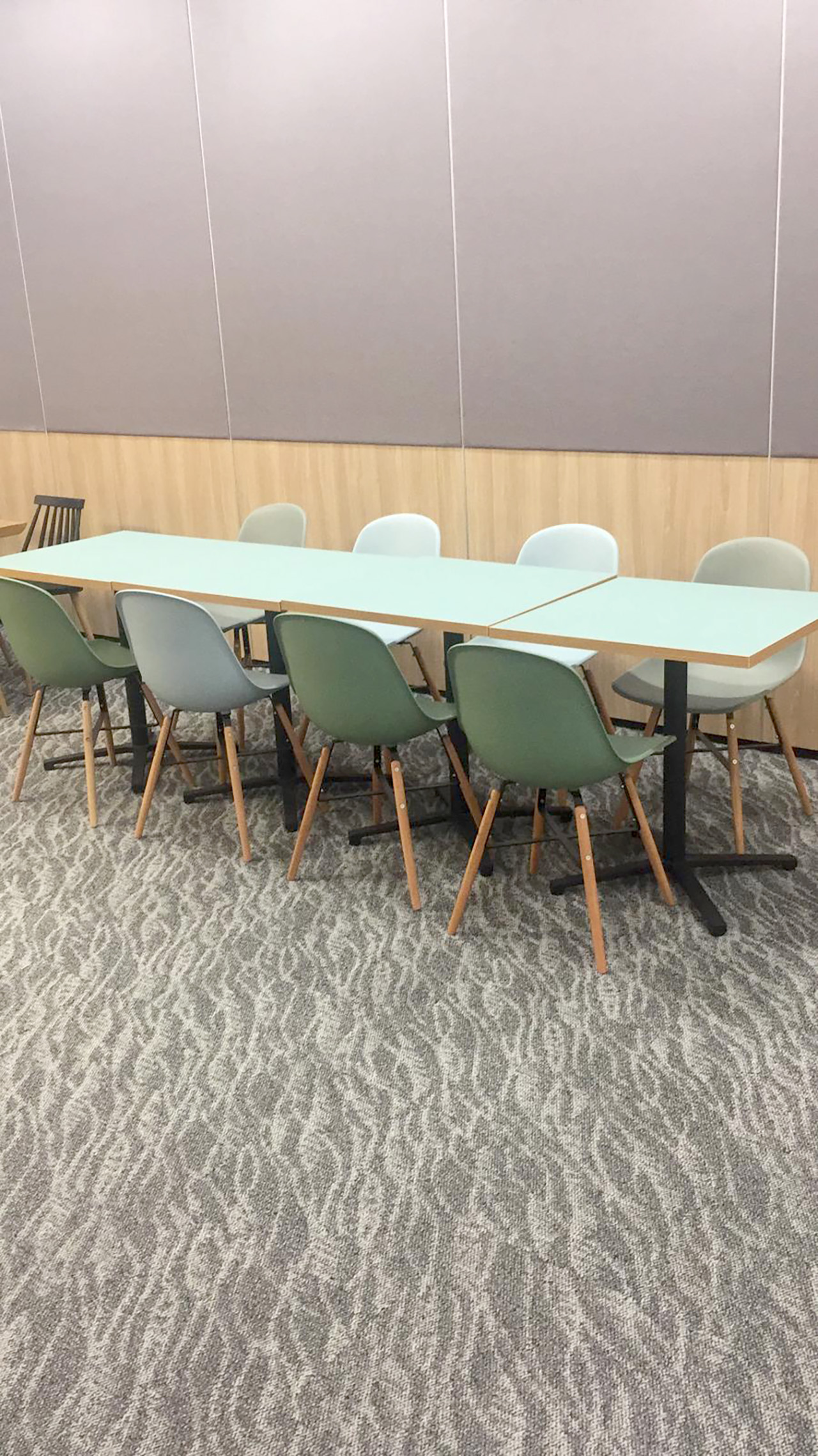 ECON Healthcare Group - Changi Road | Product Seen: [Adik – Wood Side Chair & Customised Laminate tabletop + Grit Non-foldable Table Base]