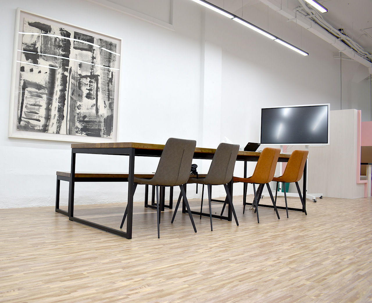 Ingram Micro Asia Ltd - Kallang Bahru | Product Seen: [Ricky Dining Bench – Customisable, Ricky Dining Table w/ Butcher Top – Customisable & Eunice Side chair]