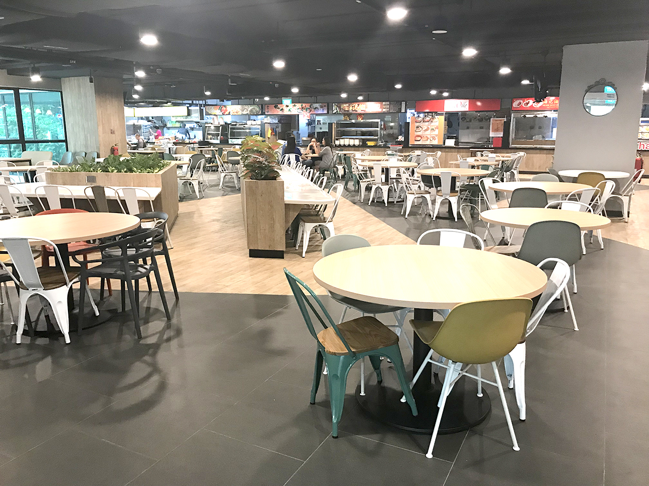 KA Centre - Kampong Ampat | Product Seen: [Customised Tabletop + Cosson Table Base, Adik – Steel Chair, Ribbon Sidechair &amp; Dojo Sidechair – Wood Seat]<br />