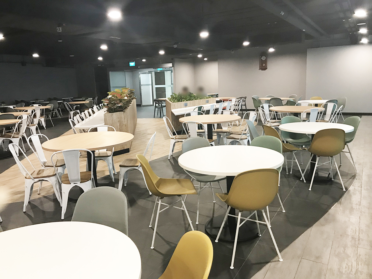 KA Centre - Kampong Ampat | Product Seen: [Customised Tabletop + Cosson Table Base, Adik – Steel Chair & Dojo Sidechair – Wood Seat]