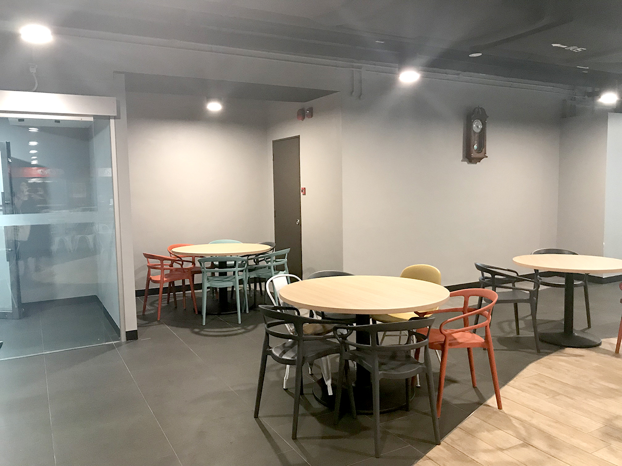 KA Centre - Kampong Ampat | Product Seen: [Customised Tabletop + Cosson Table Base, Adik – Steel Chair, Ribbon Sidechair & Dojo Sidechair – Wood Seat]