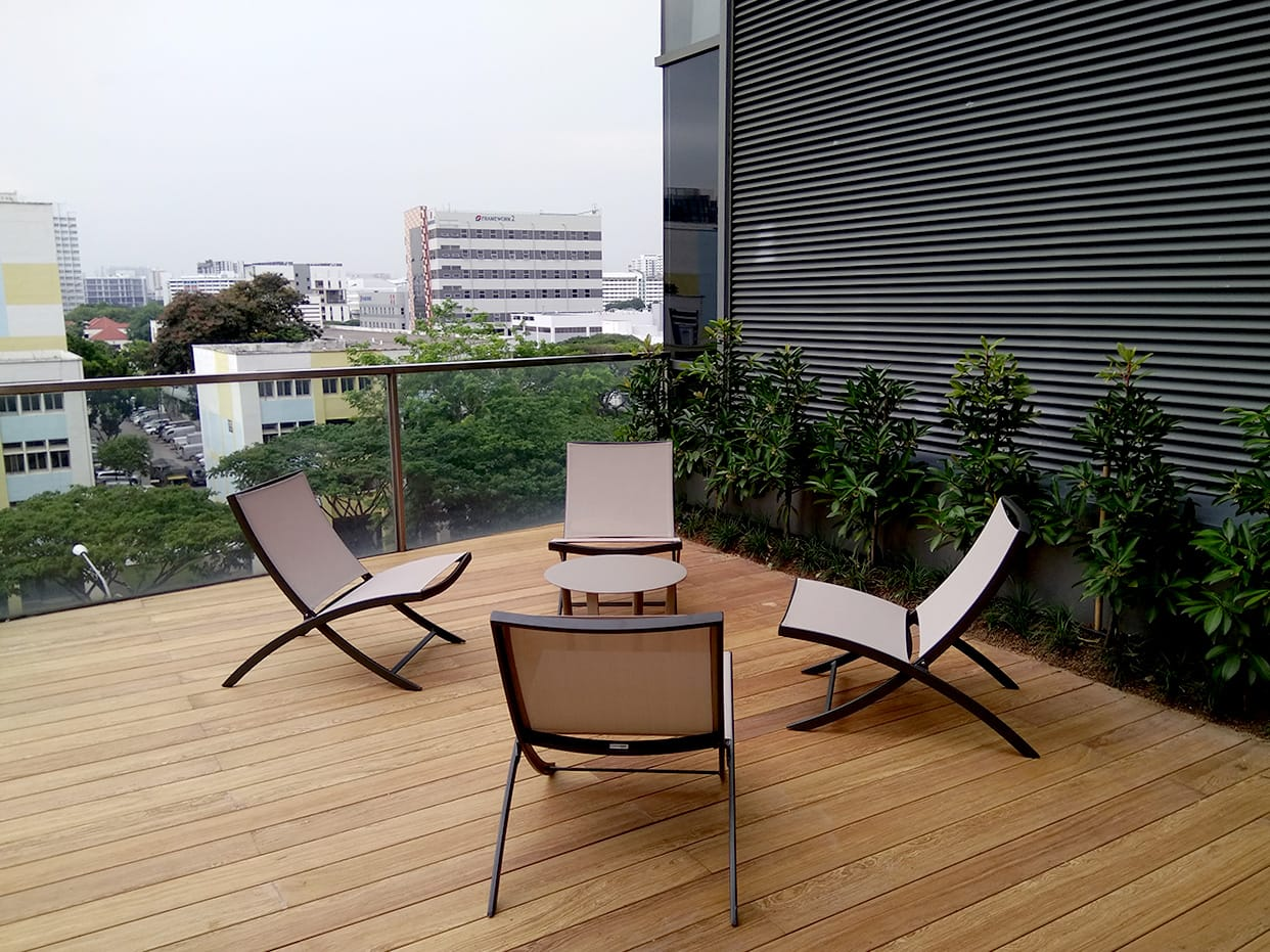 Lifelong Learning Institute - Paya Lebar | Product Seen: [Margarie Outdoor Lounger & Masaru Outdoor Coffee Table]