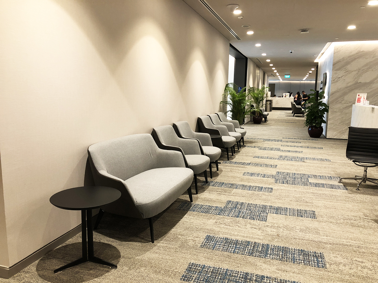 Raffles Hospital - Specialist Clinic | Product Seen: [Cullen 1–Seater Sofa, Cullen 2–Seater Sofa & Iris Coffee Table]