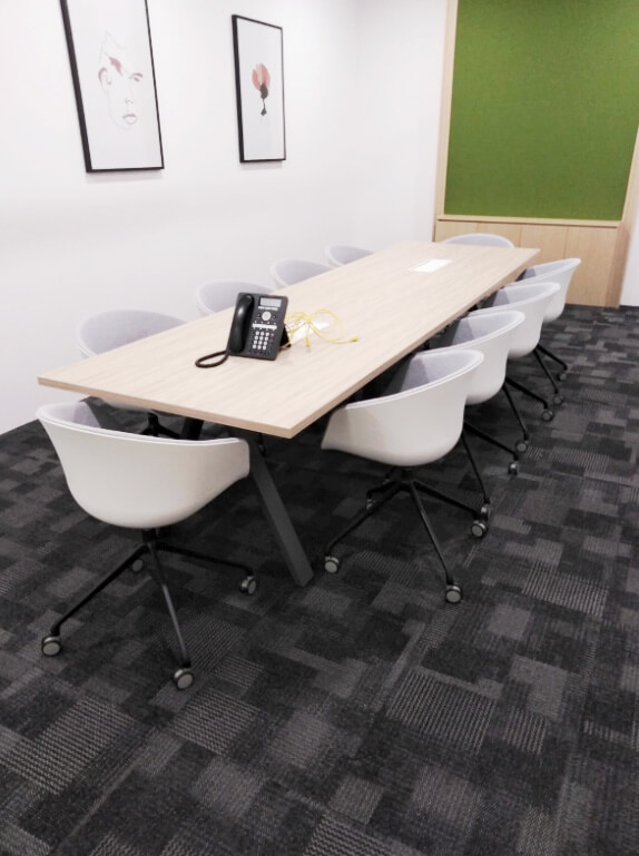 Regus Singapore | Product Seen: [Blot Castors - Full Upholstery & Apex Conference Table]