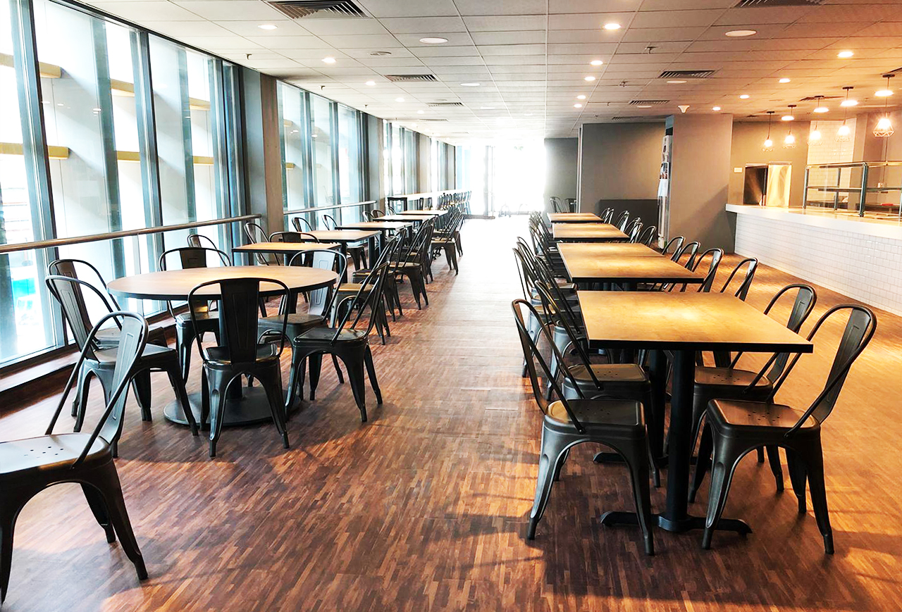 SATS Maintenance Centre - Changi North | Product Seen: Dojo Sidechair - Steel, Customisable Laminated Tabletop + Filo Table Base - V2 & Cosson Table Base]