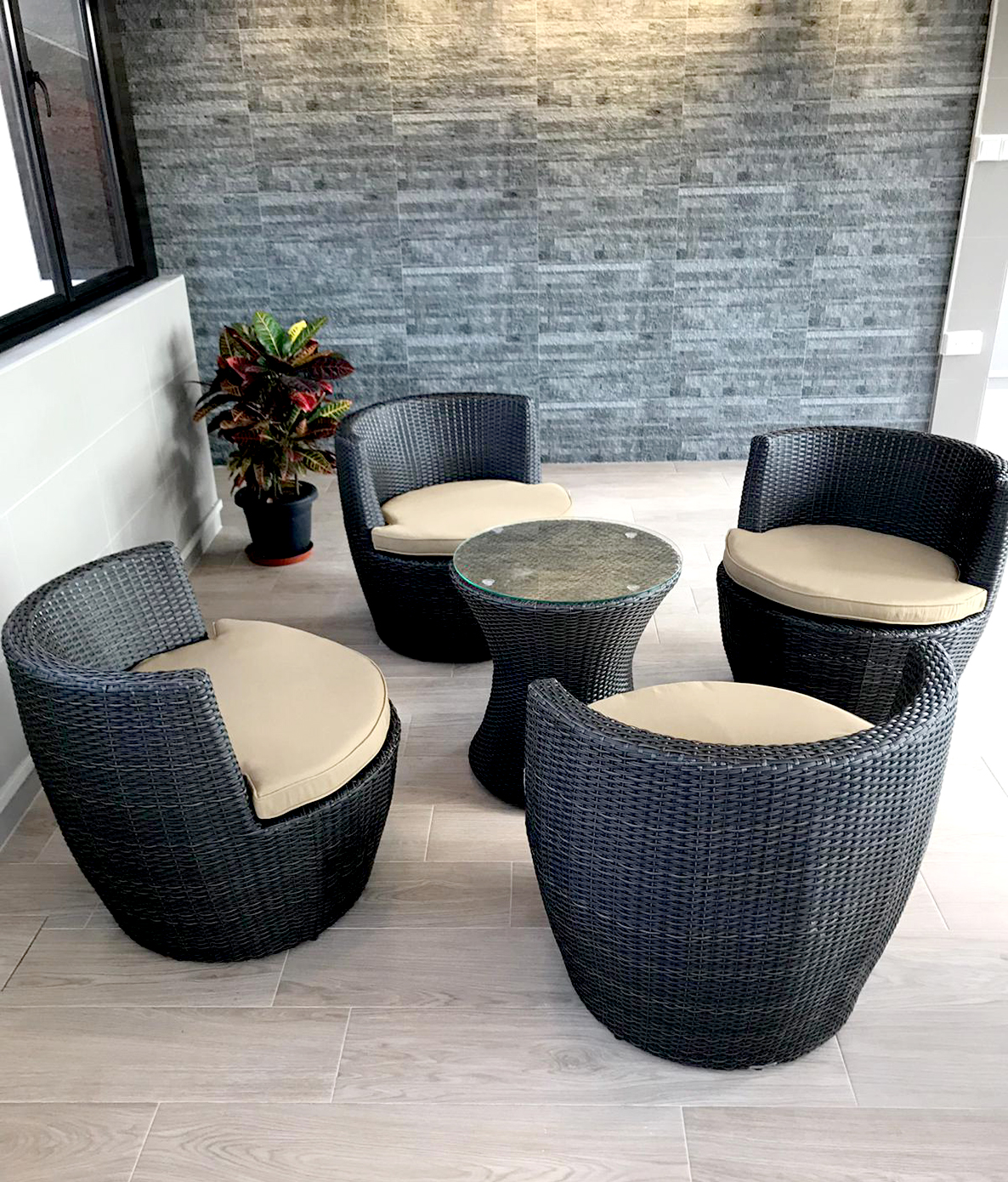 Singapore Motor Tyre Dealers Association - Geylang | Product seen:  [Tirra Outdoor Chair & Tirra Outdoor Coffee Table]