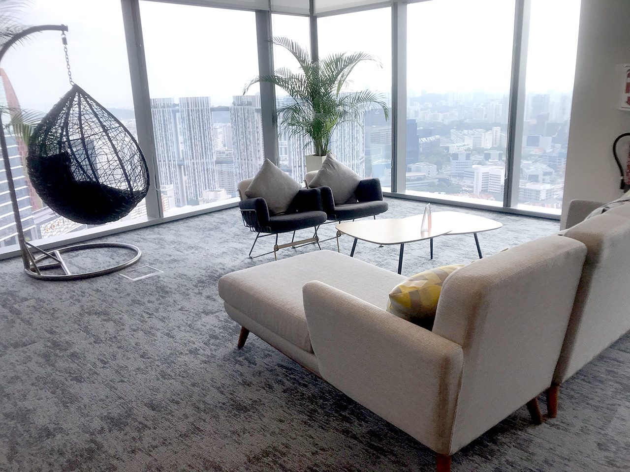 Uber - Frasers Towers | Product Seen: [Marina Swing, Uta 1 Seater Lounger & Ridge Coffee Table]