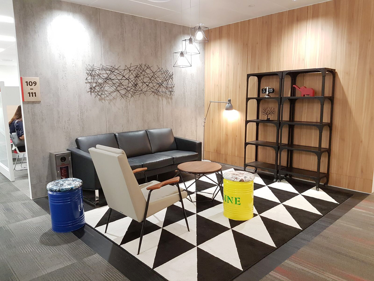 HDB Hub - Toa Payoh | Product Seen: [Rufina Lounger, Zola Coffee Table – Walnut & Serbia Shelf]<br />