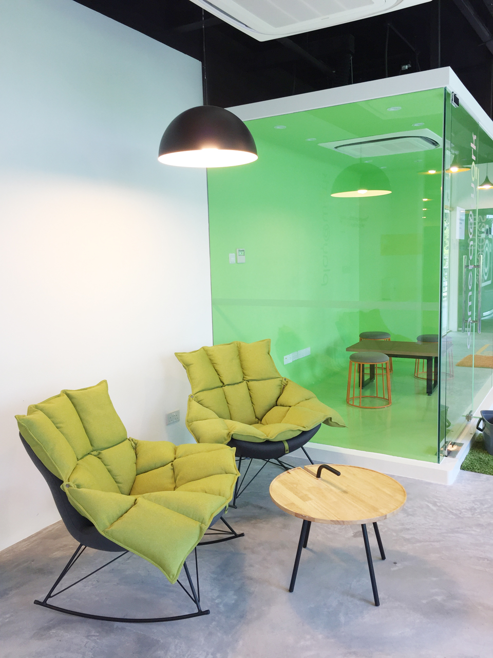 Ngee Ann Polytechnic – Blk 56 The SandBox | Product Seen: [Ginger Rocking Lounge Chair & Merry Coffee Table]<br />