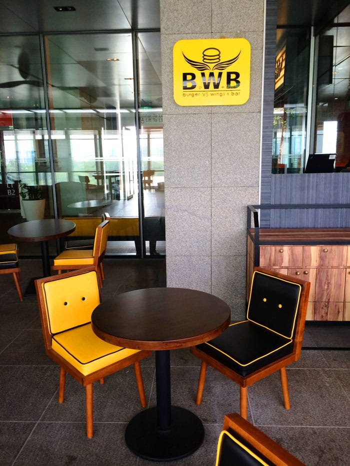 BWB (Burger VS Wings + Bar) - Orchard Central | Product Seen: [Retro Lounger, Laminate Top & Cosson Base]<br />