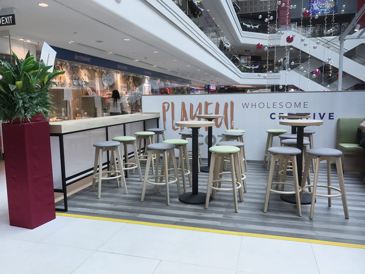 The Coffee Bean & Tea Leaf - Plaza Singapura | Product Seen: [Obie Barstool & Customised Laminate Tabletop + Cosson Table base]