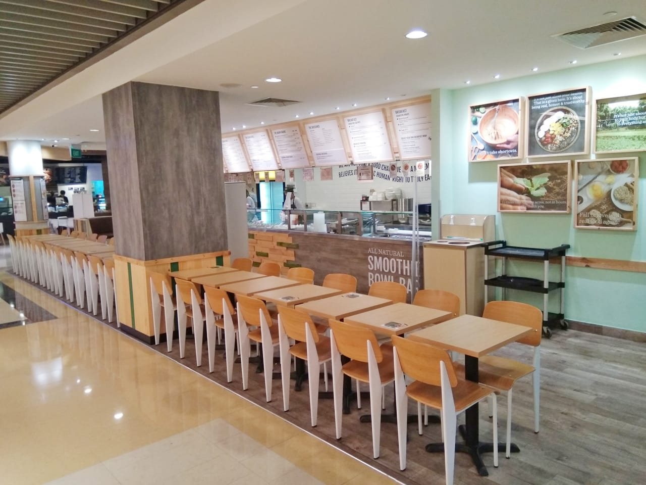 Salad Stop - Marina Bay Link Mall| Product Seen: [Index Sidechair]<br />