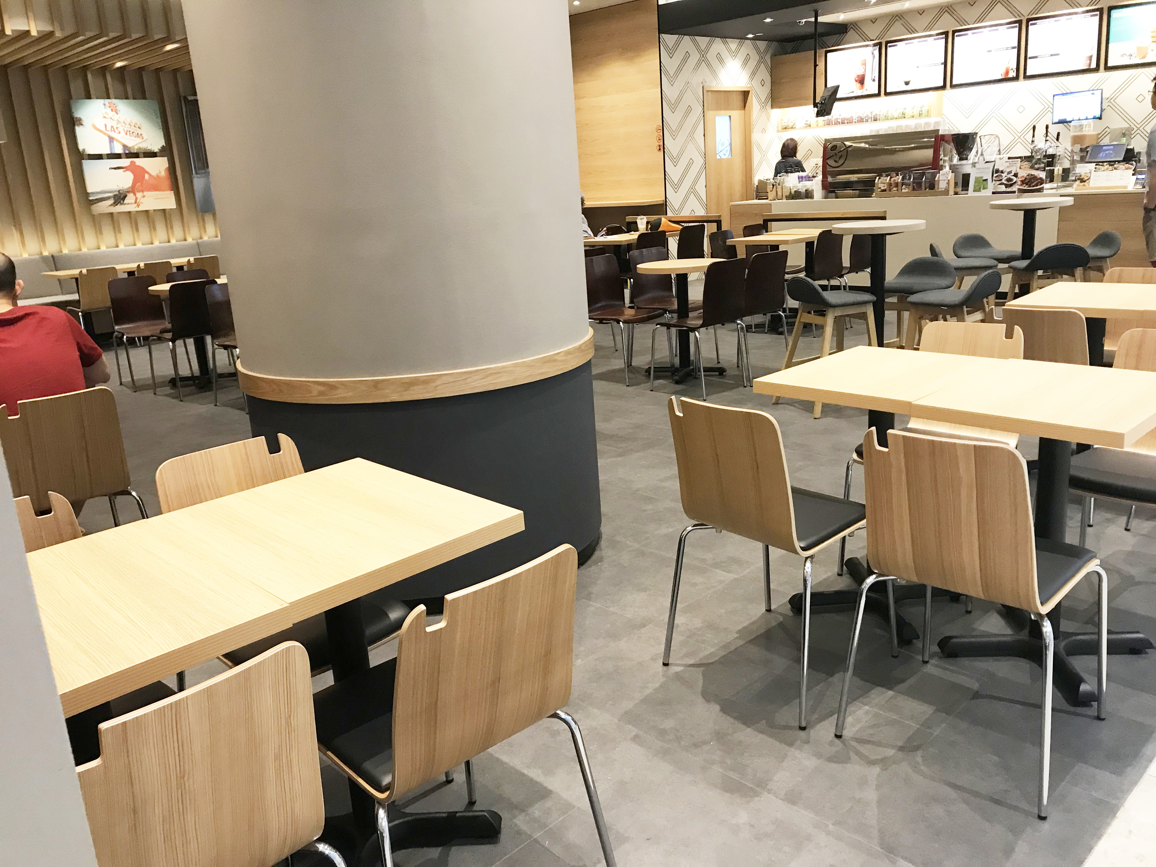 The Coffee Bean & Tea Leaf - Century Square | Product Seen: [Brilliant-V2 Chair, Swiss Chair, Jazz Barstool – SH600 & Customised Tabletop + FLAT® KX22 – H720 (For Dining Table)]