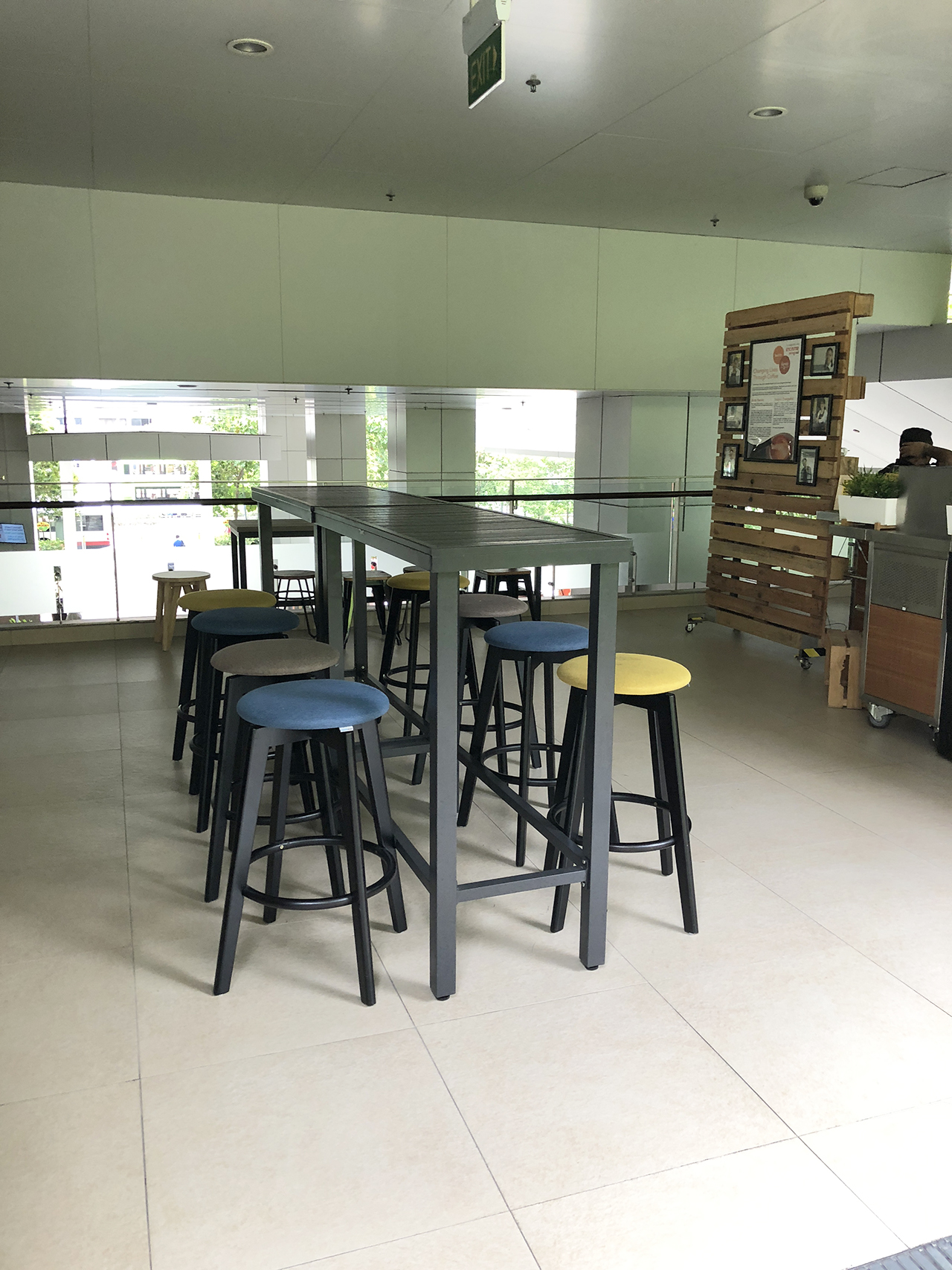 Khoo Teck Puat Hospital (Cafe) - Yishun | Product Seen: [Hiro Outdoor Bartable – Rectangle & Obie Barstool]