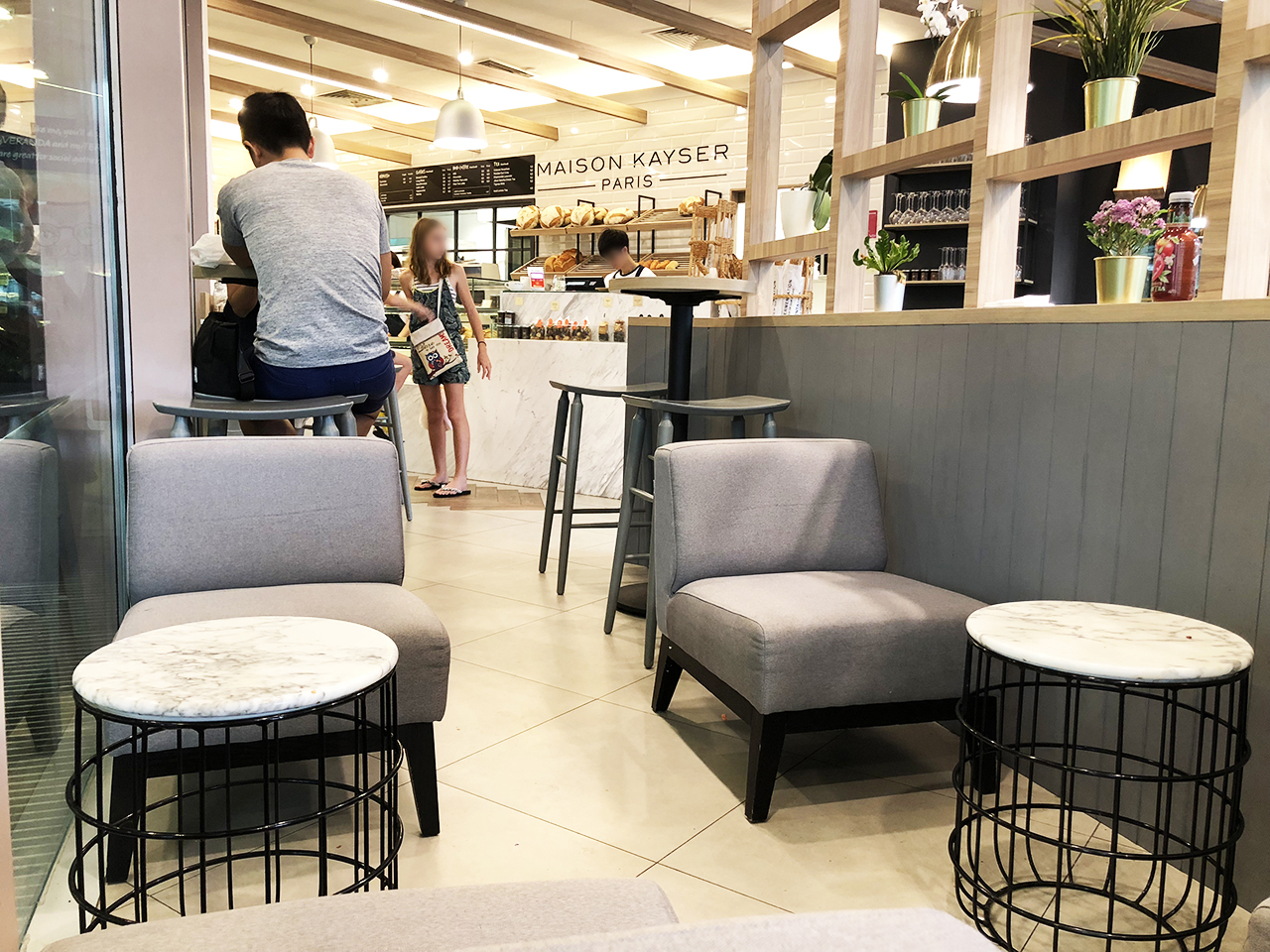 Maison Kayser - Maju Mall | Product Seen: [Dasha Coffee Table – Marble & Slit 1–Seater Sofa]