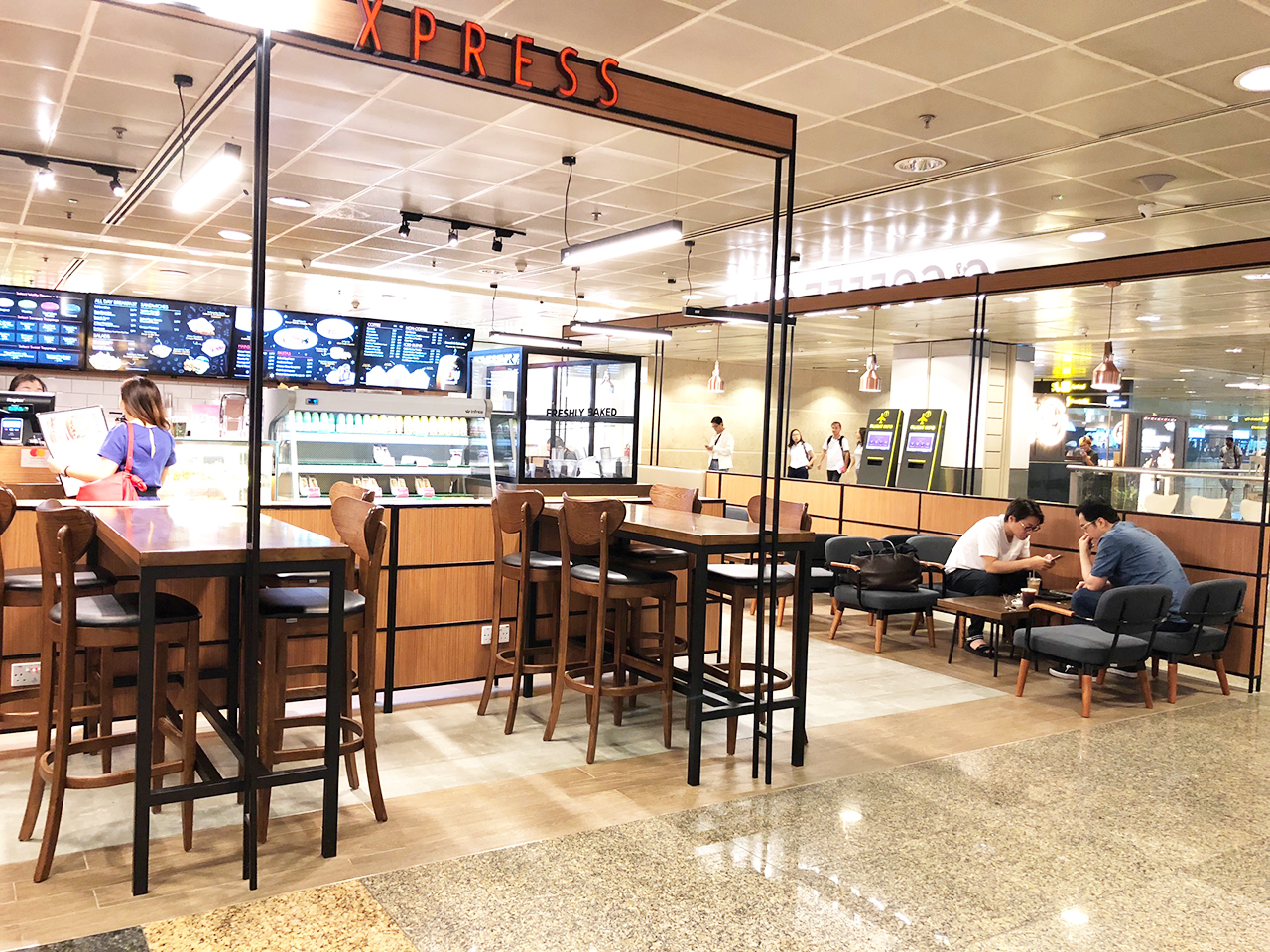 O' Coffee Club - Terminal 2, Changi Airport  | Product Seen: [Journey Barchair – Cocoa & Astro 1–Seater Sofa]