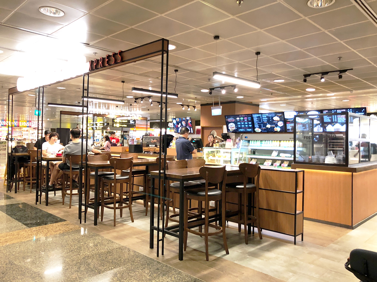 O' Coffee Club - Terminal 2, Changi Airport  | Product Seen: [Journey Barchair – Cocoa]