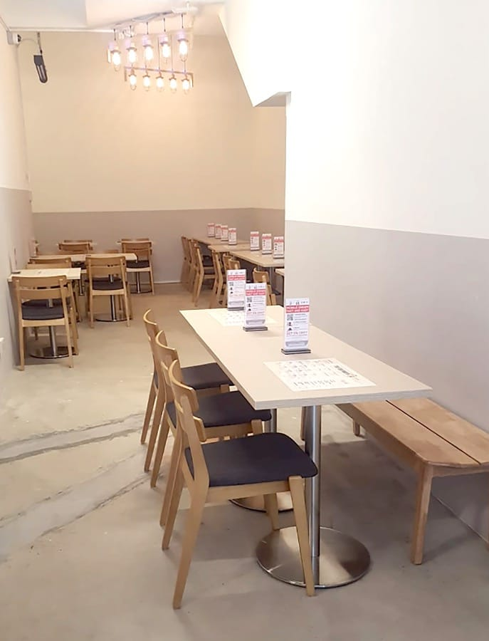 The Tea Party Cafe - Robinson Square | Product Seen: [Haru Bench – W1600 & Customised laminated table top + Traxtor Round Table Base]