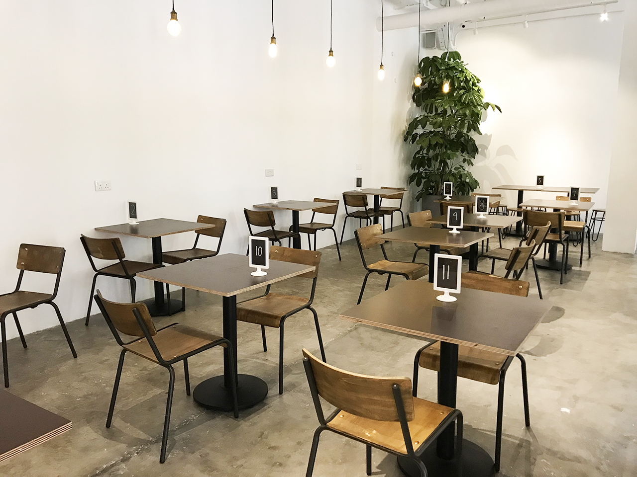 Twenty Eight Cafe - 28 Wilkie | Product Seen: [Customised Table top + Cosson Table Base & Mantis Sidechair]