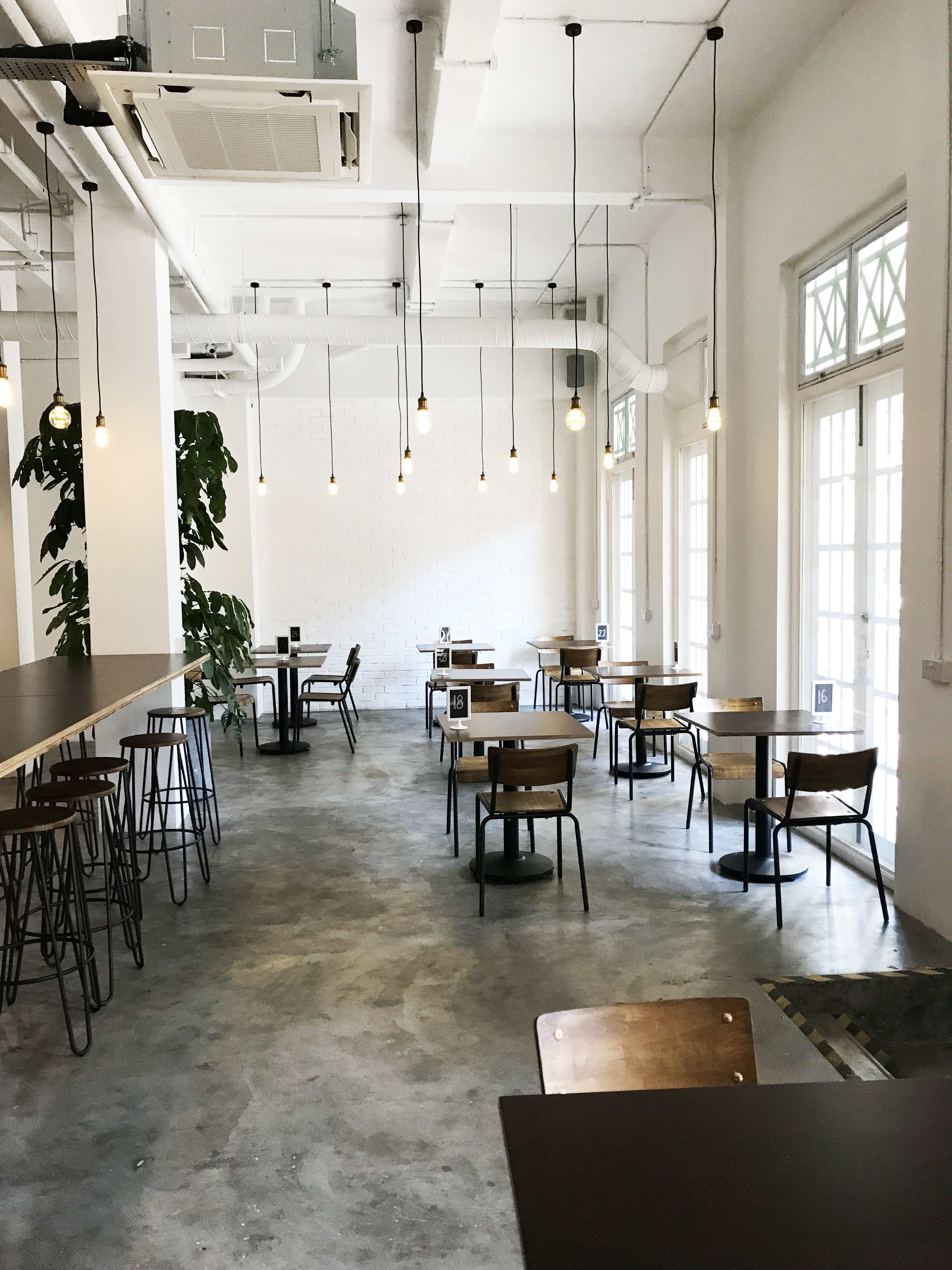 Twenty Eight Cafe - 28 Wilkie | Product Seen: [Customised Table top + Cosson Table Base, Mantis Sidechair & Hansel Barstool – Wood + Rust]