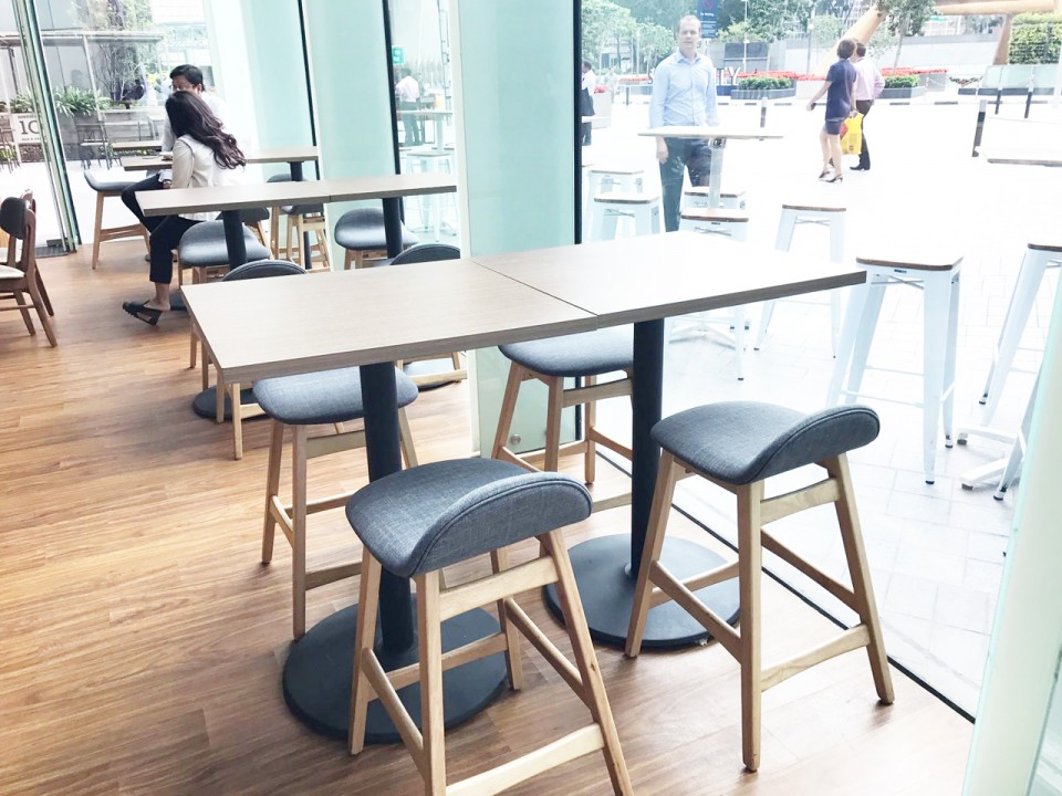The Avenue - Suntec City | Product Seen: [Jazz V2 Barstool – SH600, Dojo Barstool – Wood + Epoxy (SH750) & Customised Laminate Tabletop + Cosson Table Base]<br />
