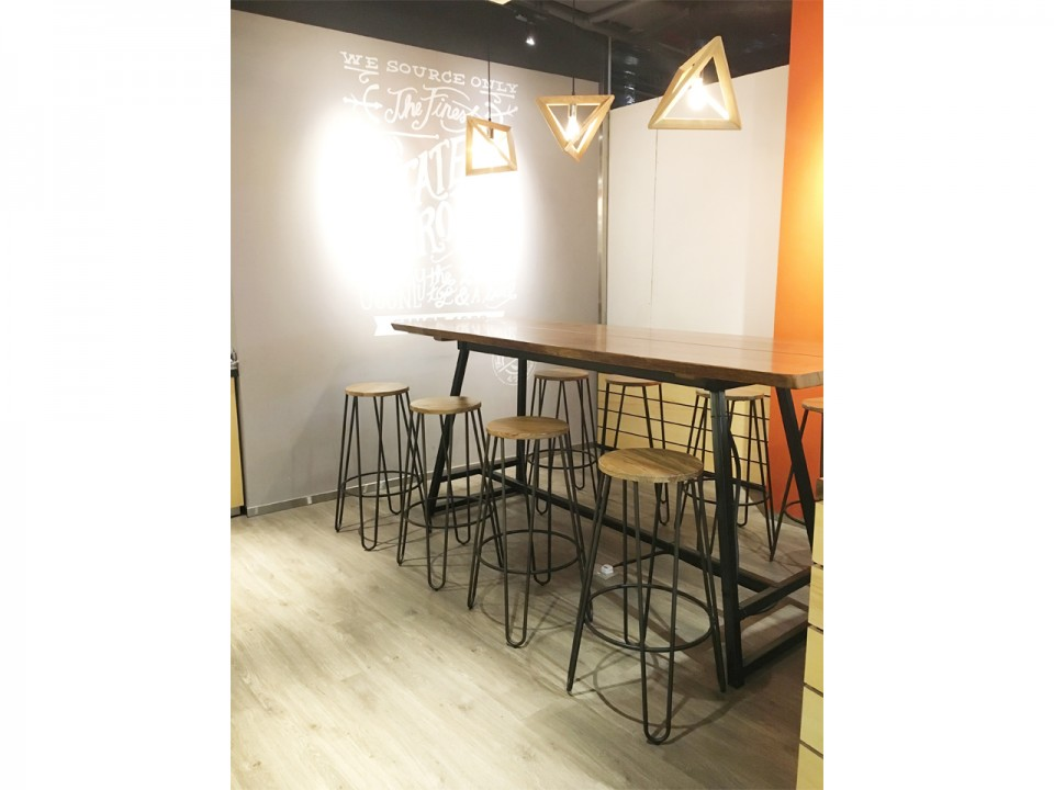 Coffee Bean @ Centrepoint | Product Seen: [Anderson Bar Table – Customisable &amp; Hansel Barstool – Wood + Rust]<br />