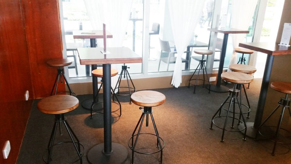 Barnacles Pte Ltd - Custom House | Product Seen: [Afro Barstool – SH650 & Customised Butcher Tabletop + Cosson Table Base]