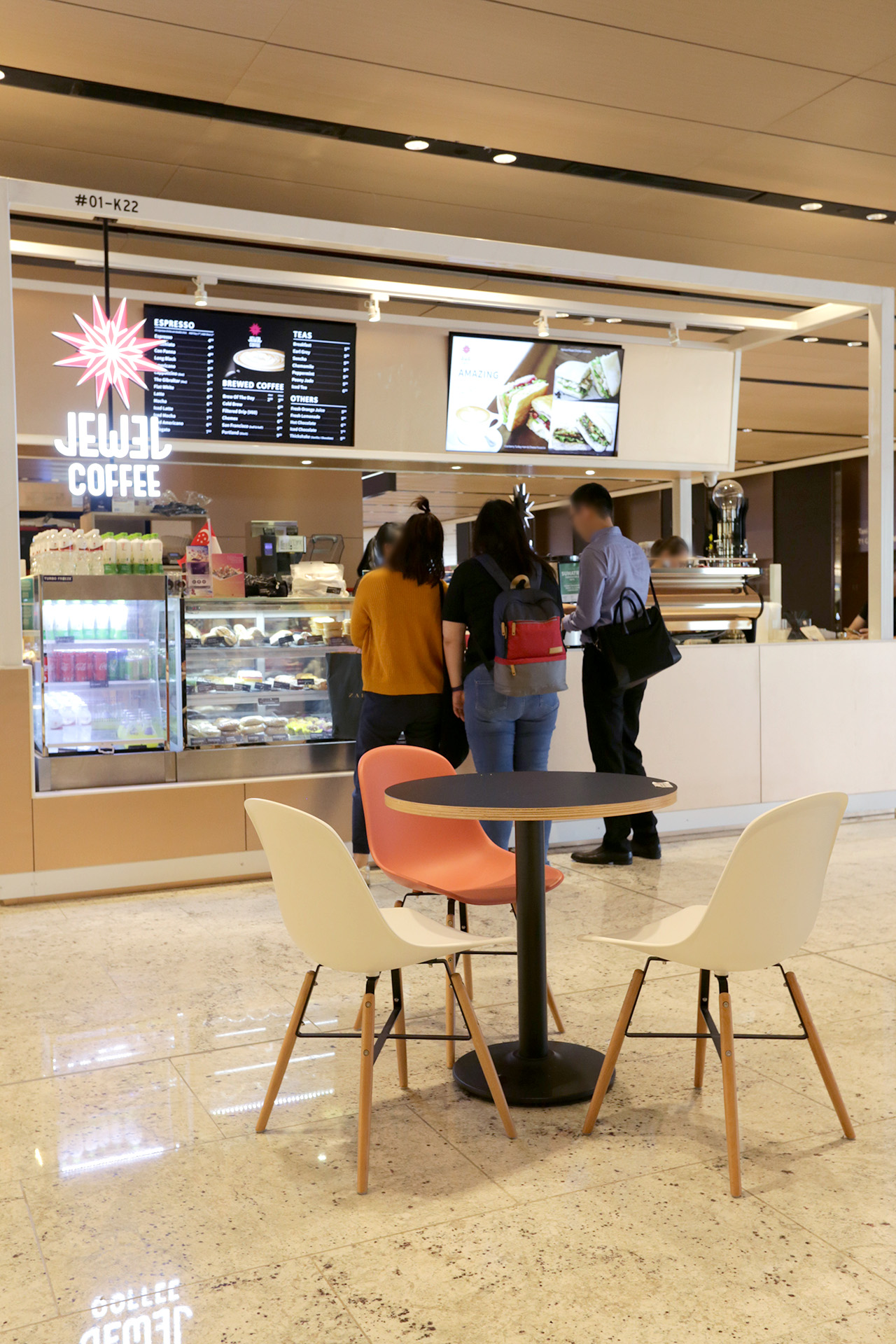 Jewel Coffee - Jewel Changi Airport | Product Seen: [Adik – Wood Chair & Customised Laminate top + Cosson Table base]
