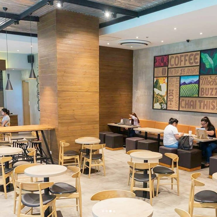 CBTL - Ayala Malls Vertis North, Manila (Philippines) | Product Seen: [Hanoi Chair & Anderson Bar Table – Customisable]