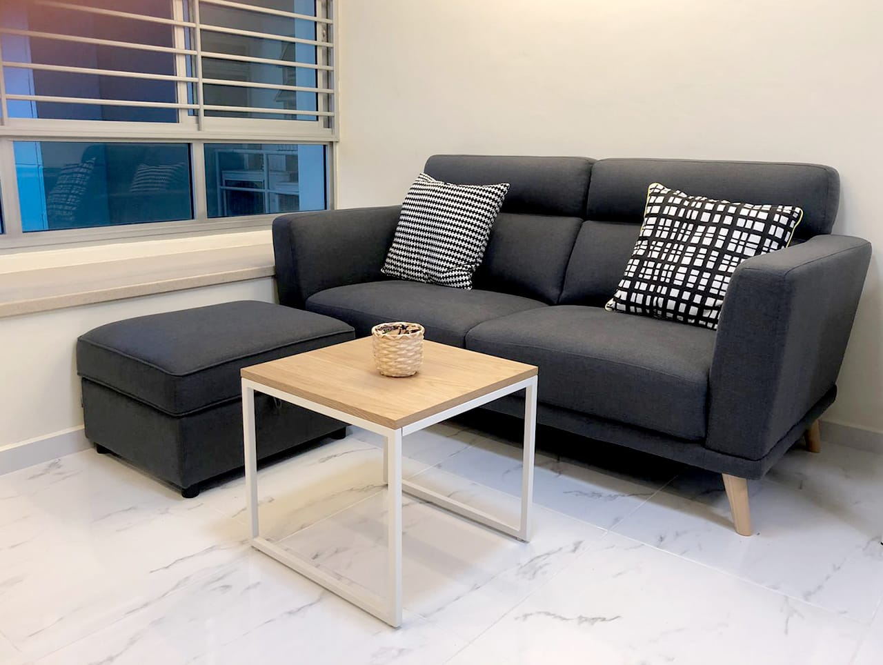 Bendemeer - HDB | Product Seen: [Neuron 2.5 Seater Sofa, Treasure Ottoman (Storage) & Dina 2-in-1 Coffee Table (Nestable)]<br />