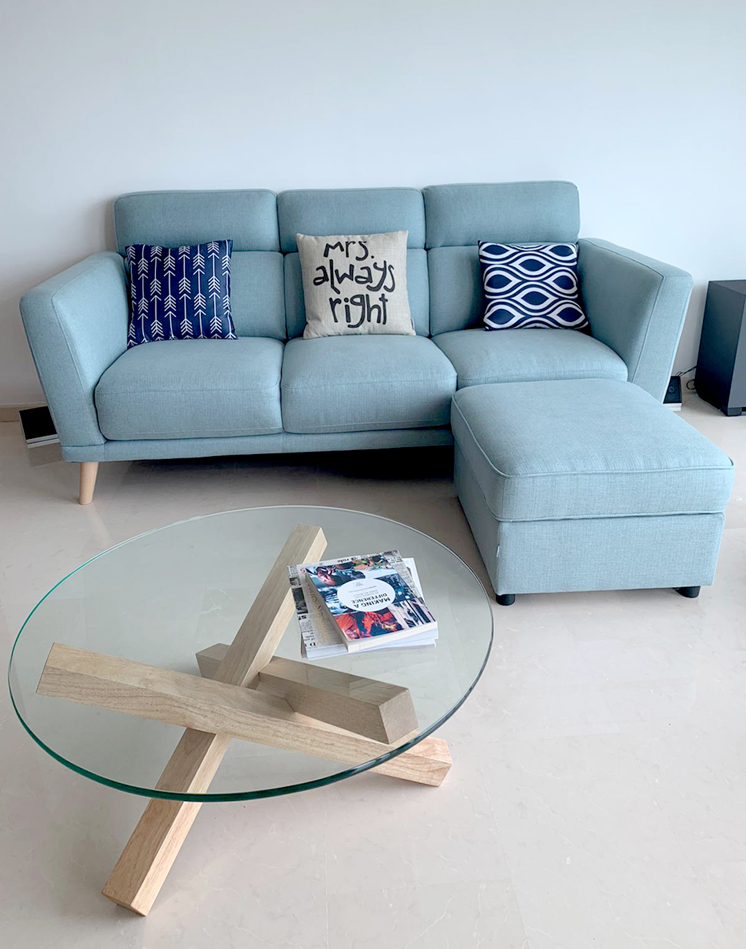 Costa Del Sol - Bayshore Road | Product Seen: [Neuron 3 Seater Sofa, Quiche Coffee Table & Cushion – Mrs. Always Right]