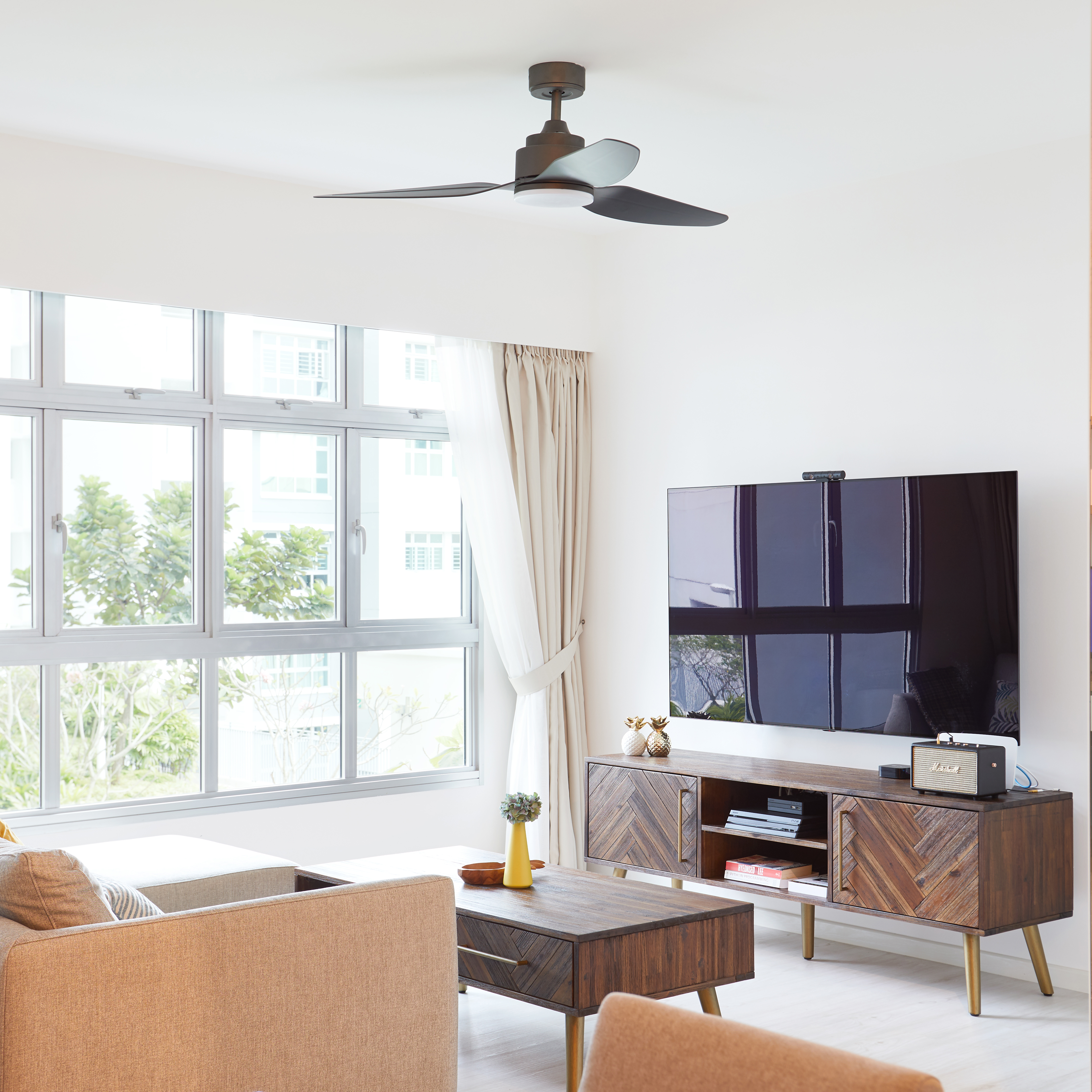 Modern Style Home - Telok Blangah Heights | Product Seen: [Xander TV Console - W1650 & Xander Coffee Table - W1200]