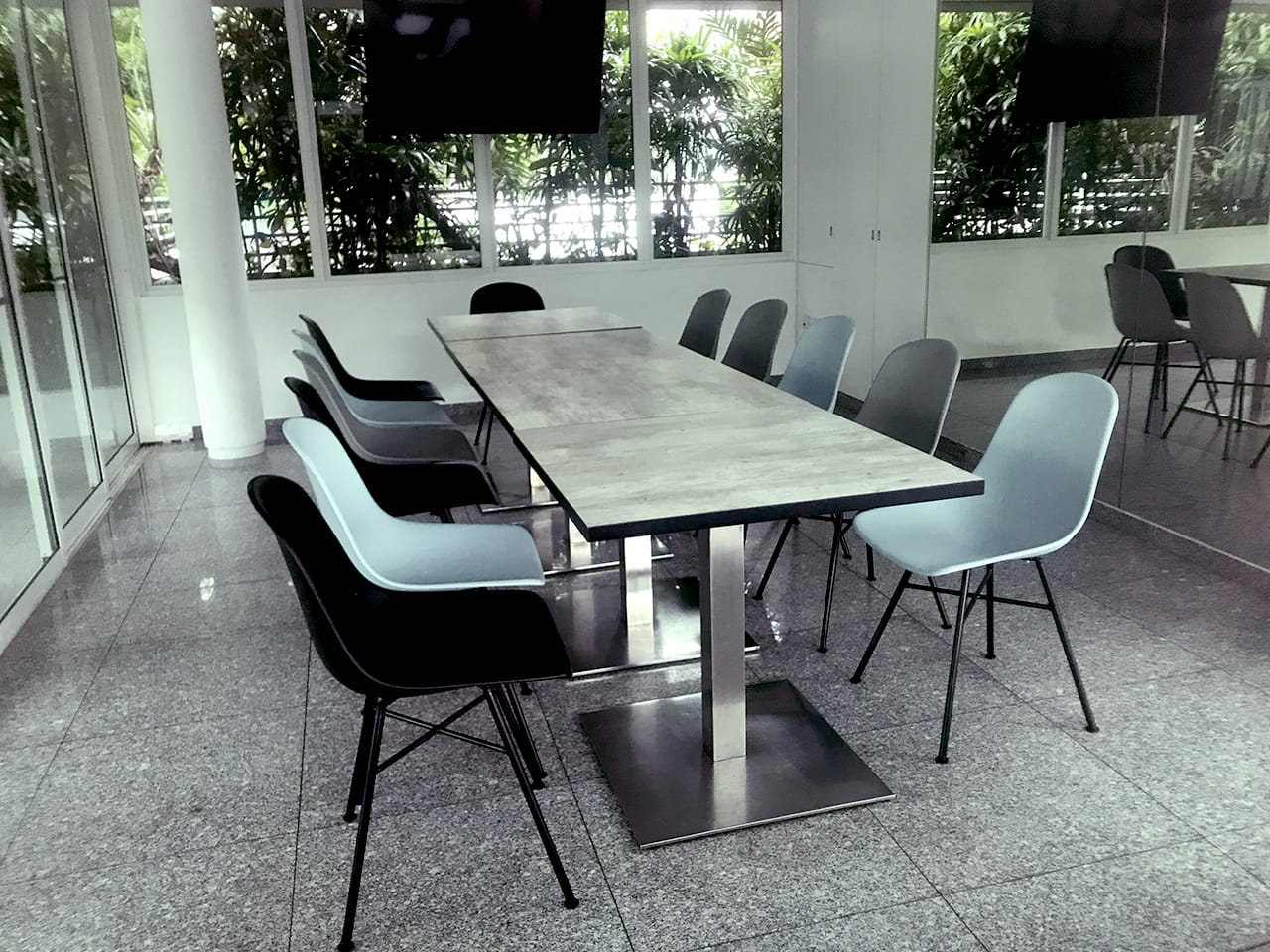 Trevista Condo - Toa Payoh| Product Seen: [Adik – Steel Chair & Customised Laminated Tabletop With ABS Edging]