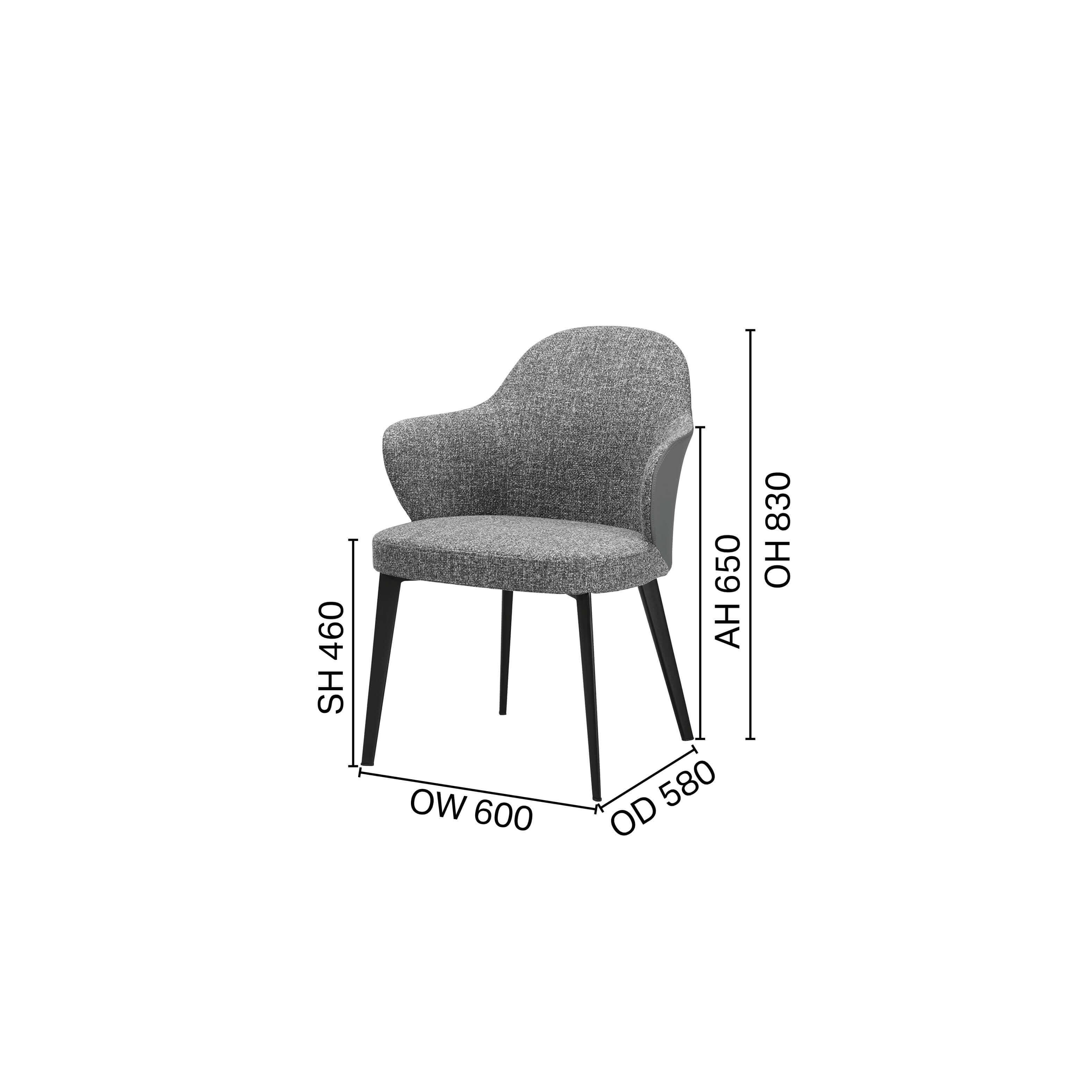 Aria Arm chair - 4 Legged