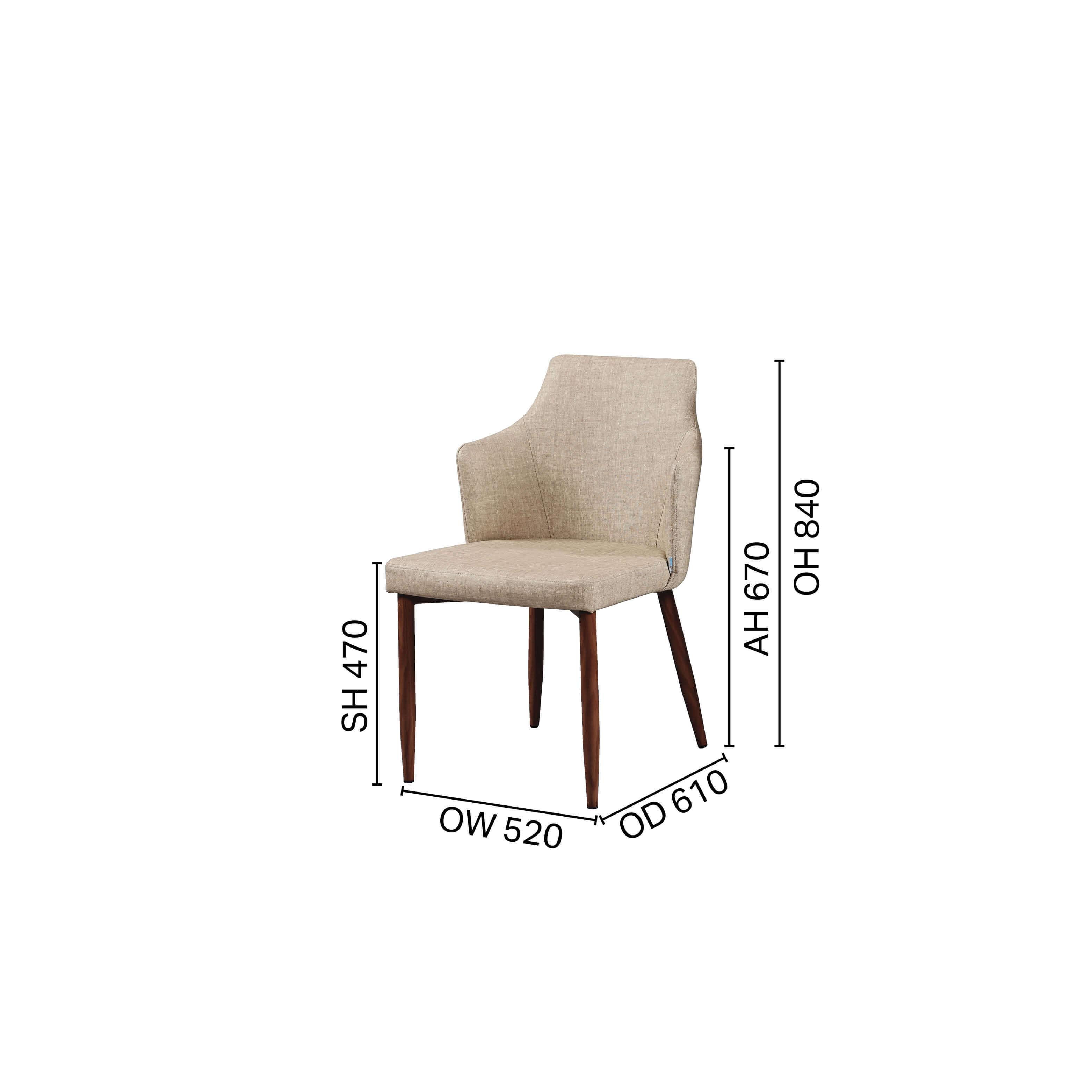 Corine Halved-Arm Chair - V2