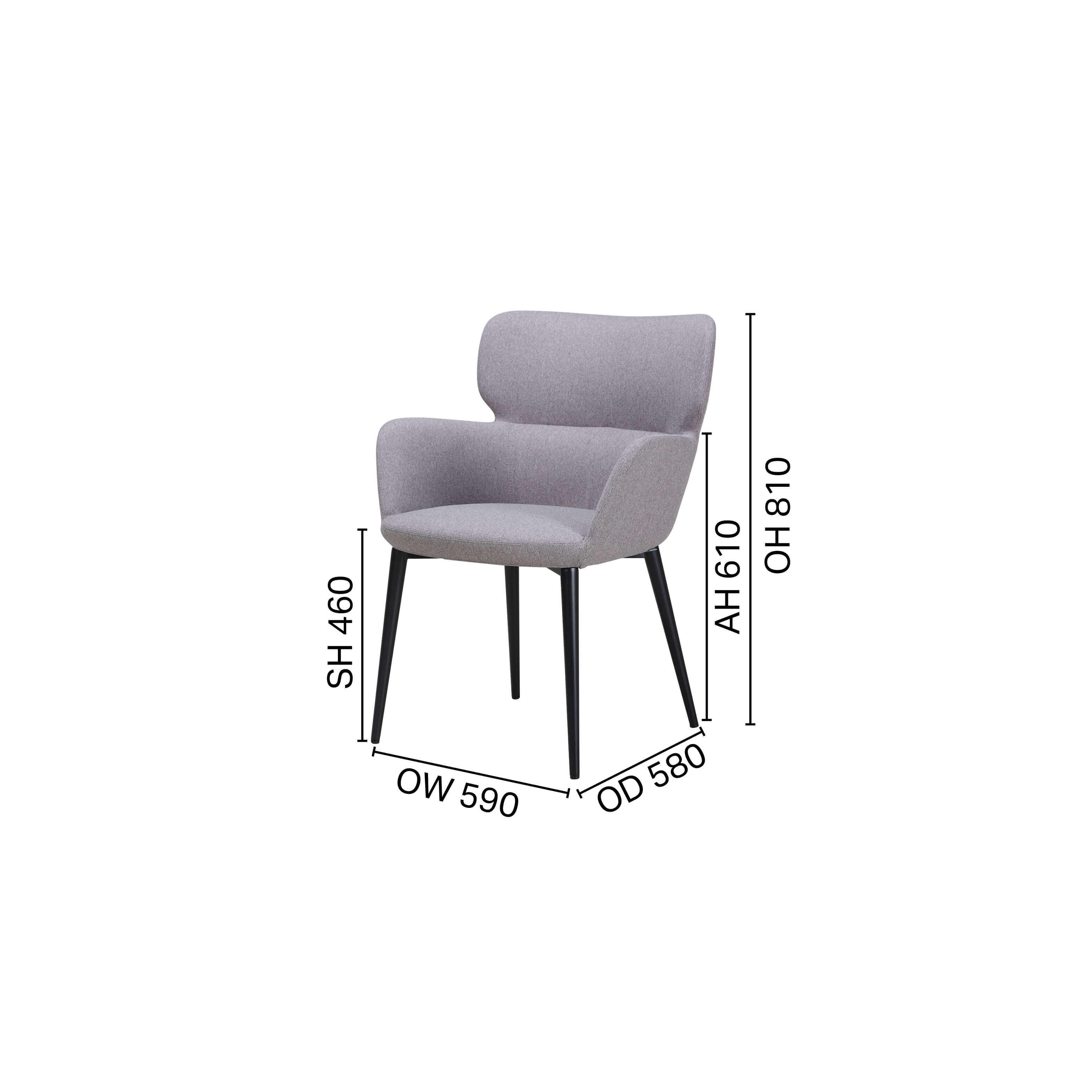Diva Arm chair - 4 Legged