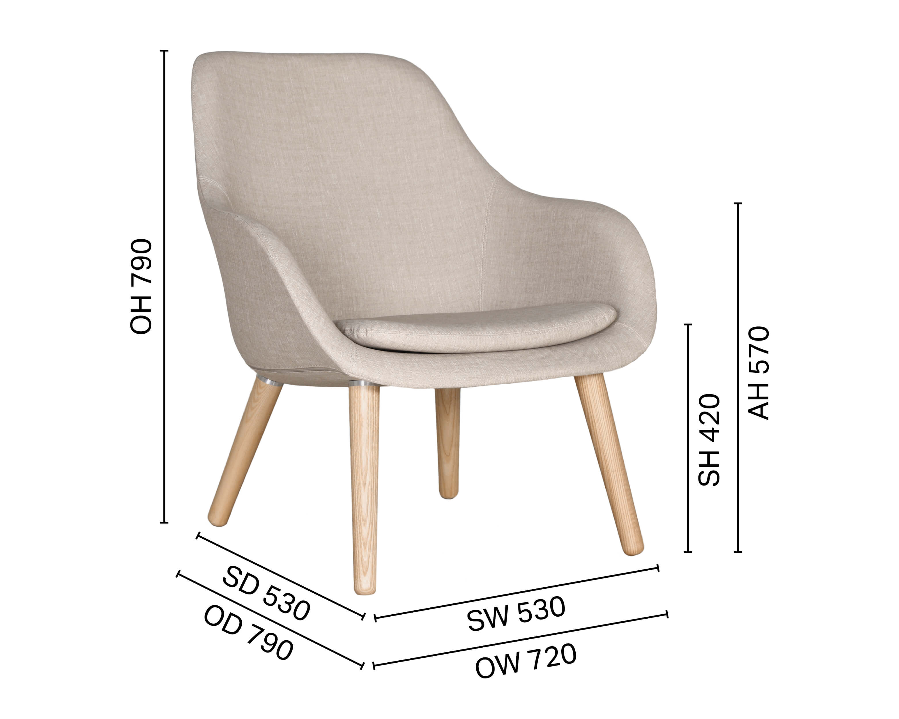 Sacco Wood Leg Lounger